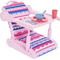 Journey Girls Take-Along Seat for 18 Inch Dolls, Includes Folding Chair and Accessories, Amazon Exclusive