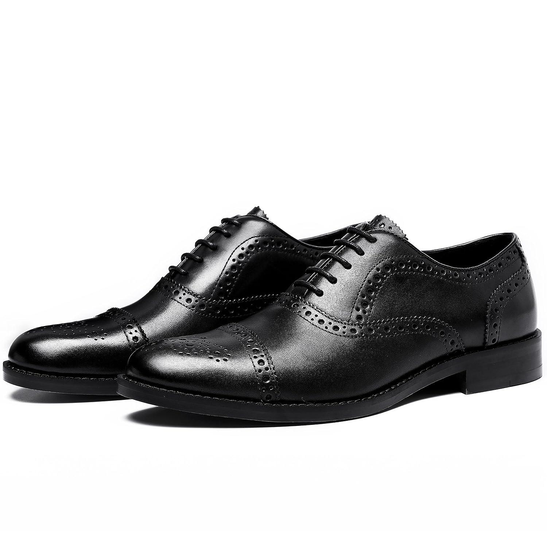Clarks Gilmore Limit, Zapatos de Cordones Brogue para Hombre, Negro (Black Leather), 40 EU