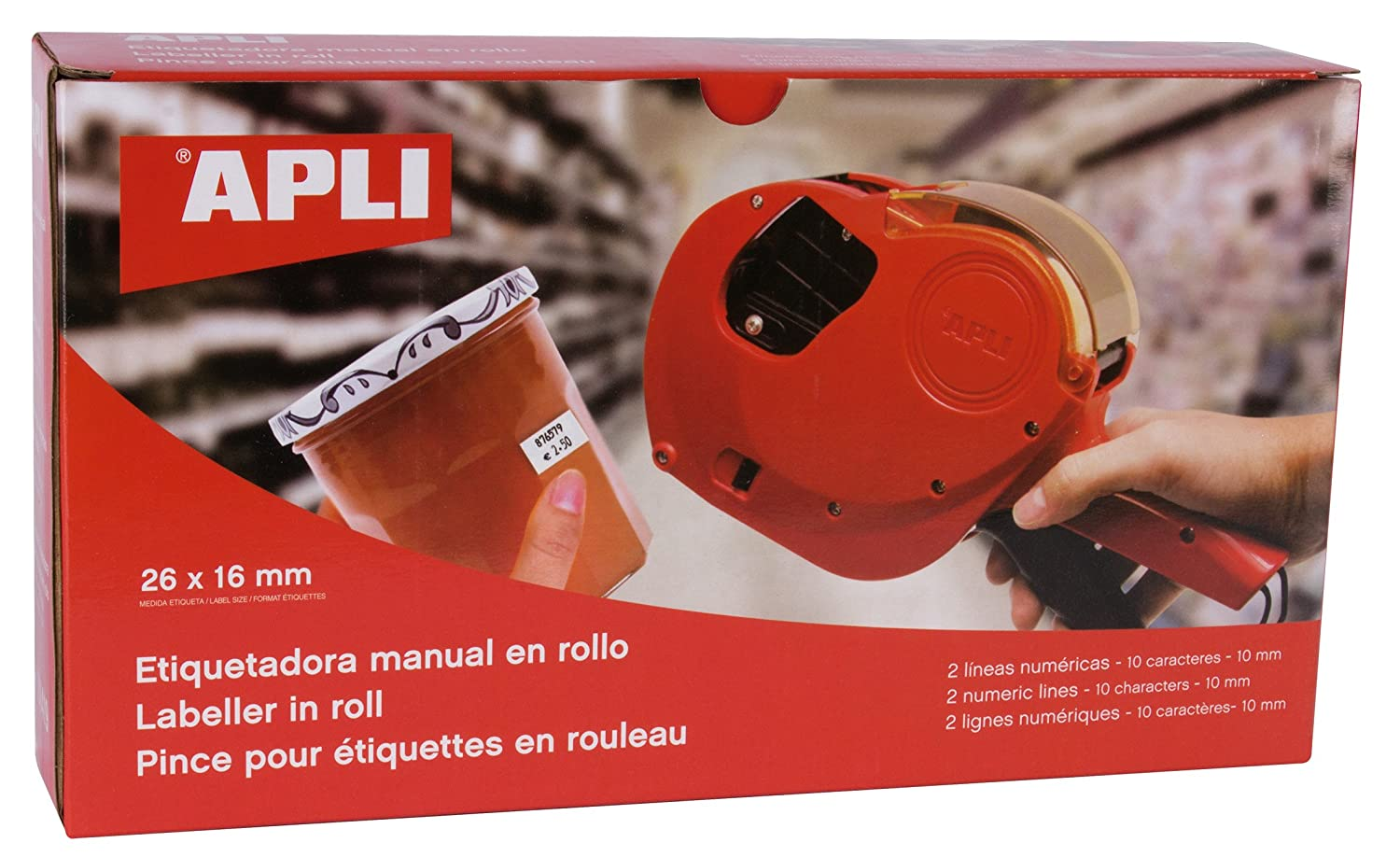 Apli 101419 2 Digital Lines/10 Characters Pricing Gun