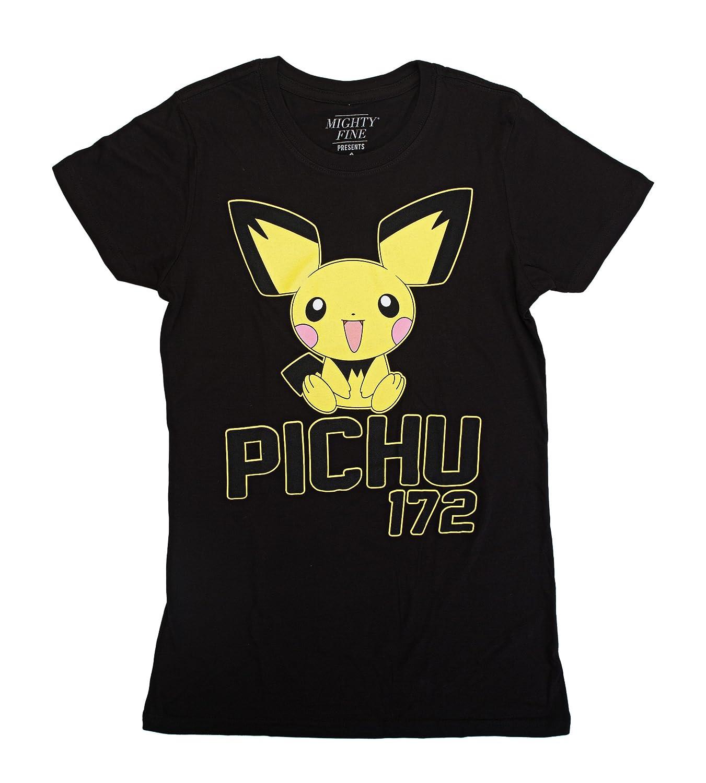 78f71686 Amazon.com: Pokemon Pichu 172 Juniors T-Shirt: Clothing