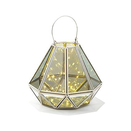 Amazon Com Decorative Geometric Terrarium Lantern Diamond Shape