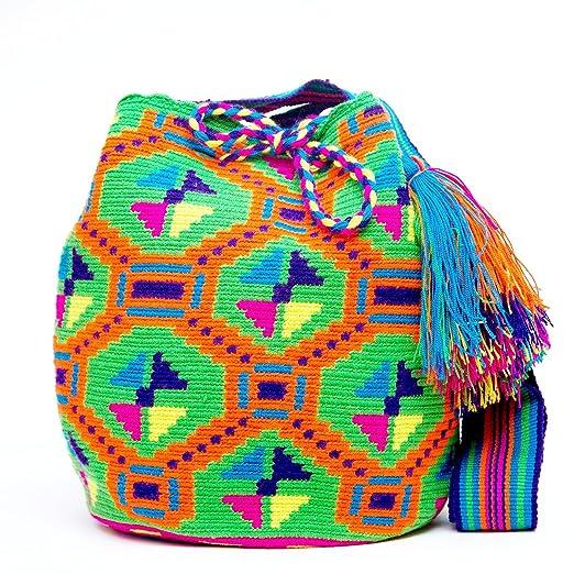 bd5aaf0ee79 Amazon.com: Authentic Mochilas Wayuu Bag: Clothing