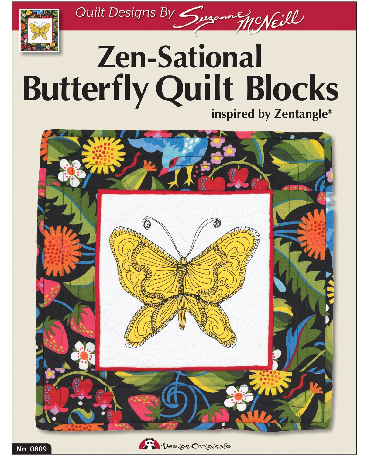 Design Originals DO809 Sensational Butterflies Quilting Template with Zen Tangle DO0809