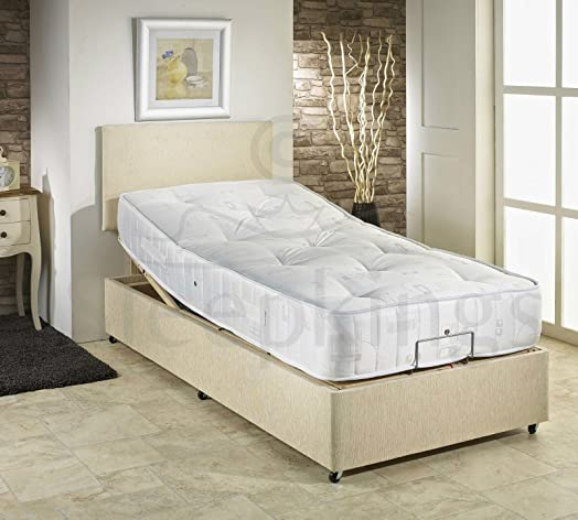 3ft single adjustable electric bed free matching headboard u0026 pocket sprung mattress u2013 high quality