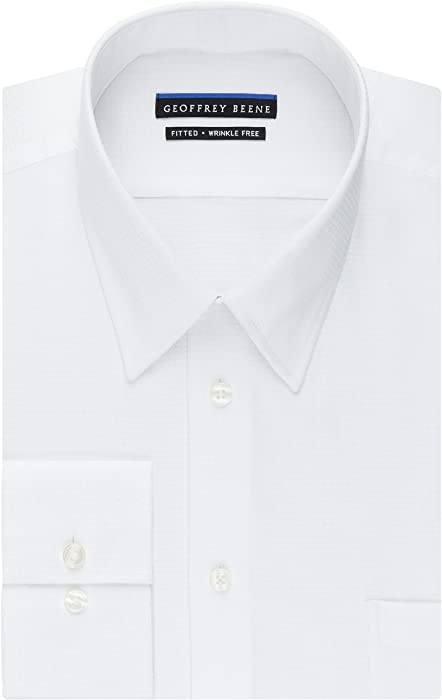 c68c50401a Men s Micro Chip Sateen Fitted Solid Point Collar Dress Shirt. Back.  Double-tap to zoom