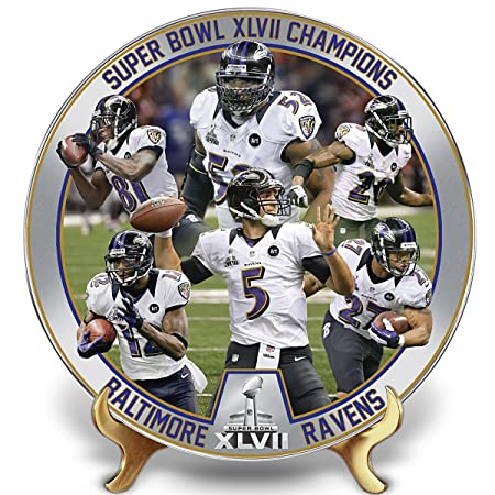 Collector Plate  Baltimore Ravens Super Bowl Champions by The Bradford  Exchange  Amazon.co.uk  Kitchen   Home 40ee9bffb