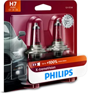 Philips H7 X-tremeVision Upgrade Headlight Bulb with up to 100% More Vision,