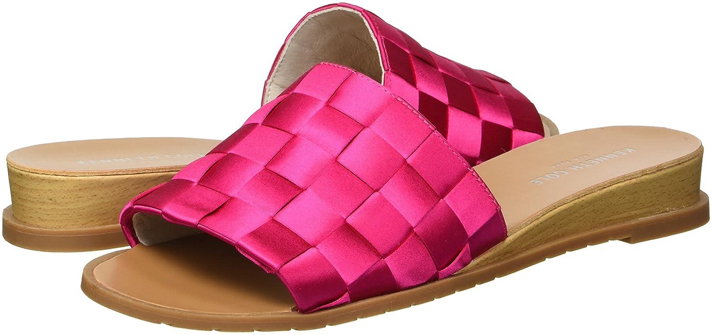 Kenneth Cole New York Women's Joanne Woven Satin Slide Sandal B079JW6GYV 7.5 B(M) US Fuchsia
