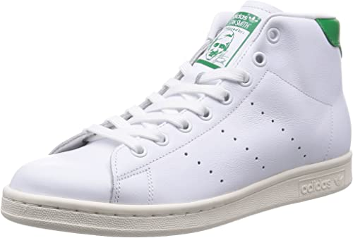 Stan Smith Mid White Leather Sneakers