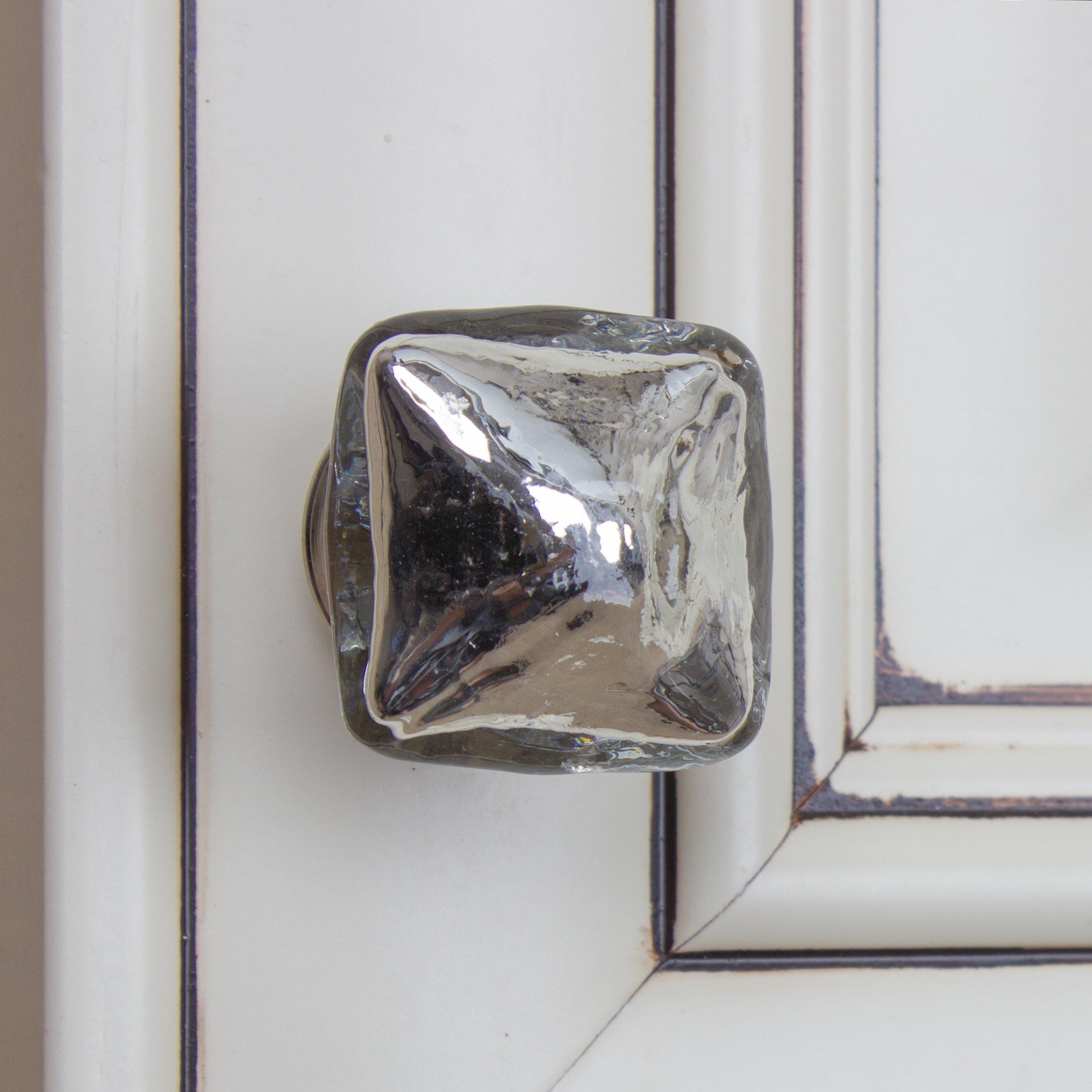 GlideRite Hardware 231010-M-25 Pyramid Mercury Glass Cabinet Knobs, 25 Pack, 1.25'', Silver Vintage Mercury Glass by GlideRite Hardware (Image #3)