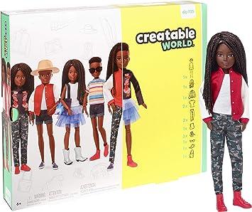 Creatable World Figura Unisex, muñeco articulado, pelucas con ...