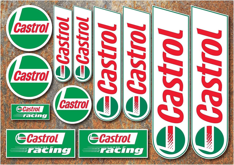 Castrol Öl Klassisch Racing Aufkleber Motorrad Auto F1 Lemans Moto Gp Btcc