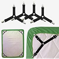 LEMESO 10pcs Plastic White Bed Sheet Holders Bed Sheet Straps Mattress Grippers Keep Sheets Snug for Full Size Bed Let Your Bed Sheet in Place Sheet Fasteners Clips