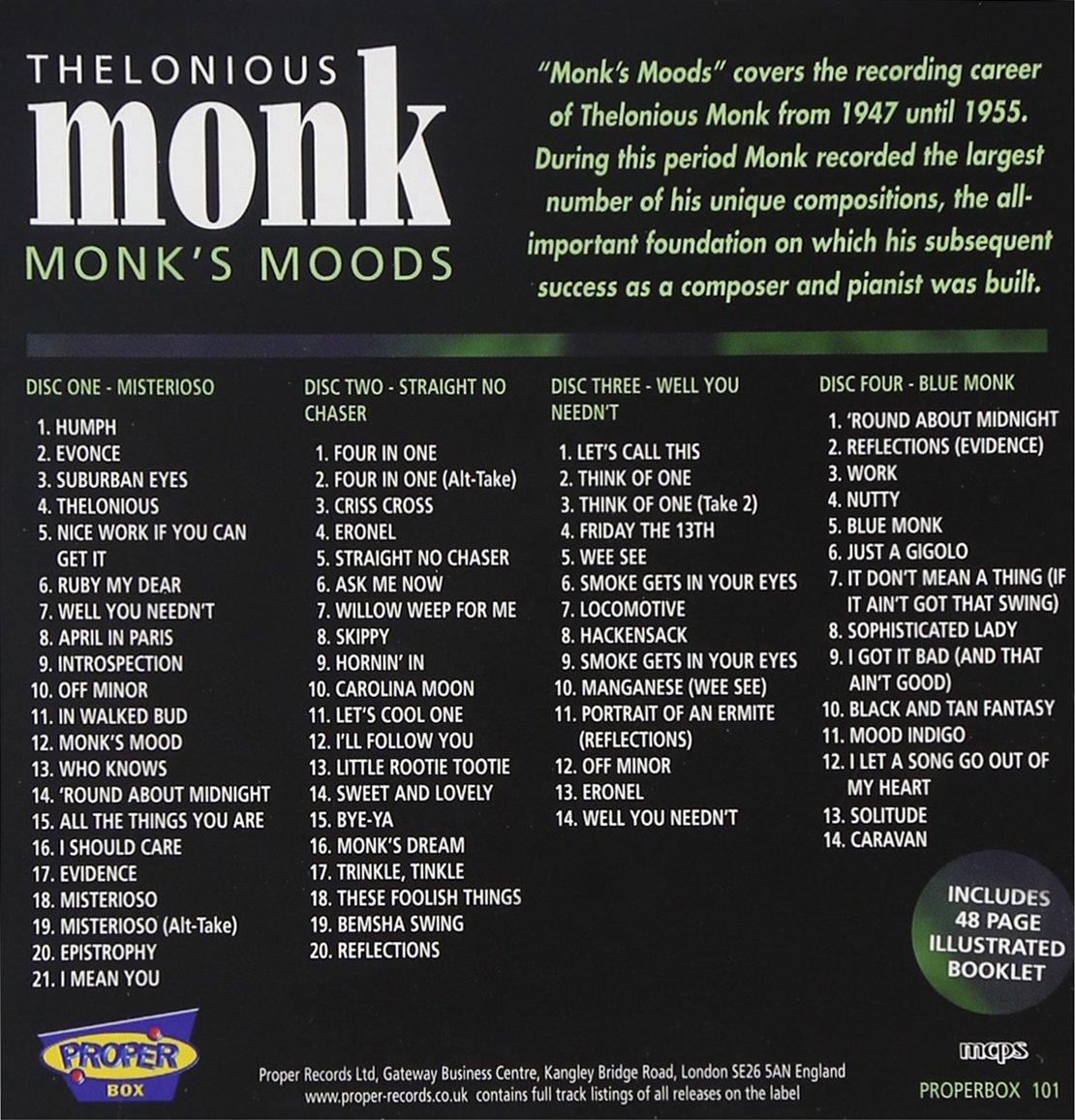 858f9725e7fe1 Thelonious Monk - Monk s Moods - Amazon.com Music