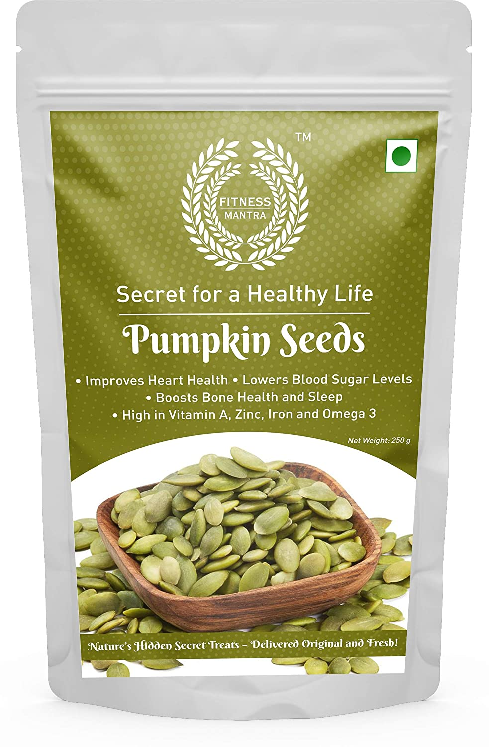 Fitness Mantra Pumpkin Seeds Pouch, 250 g: Amazon.in: Grocery