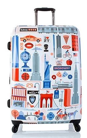 Equipaje, Maletas y Bolsas de Viaje - Premium Designer Maleta Rígida - Heys Artista Fernando Cities Trolley con 4 Ruedas Grande: Amazon.es: Equipaje