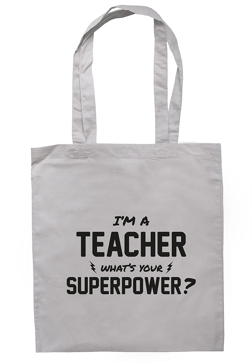 Tote Bag 37.5cm x 42cm with long handles illustratedidentity Im A Teacher Whats Your Superpower