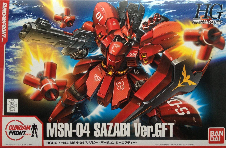 Gundam anteriore Tokyo limitata HGUC 1 144 MSN-04 Sazabi Char Ver.GFT (Giappone import   Il pacchetto e il manuale sono scritte in giapponese)