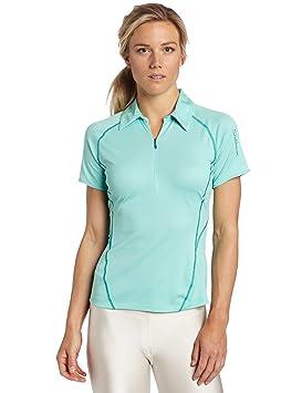Salomon Moto de Las Mujeres Camiseta Polo, Mujer, Celadon: Amazon ...