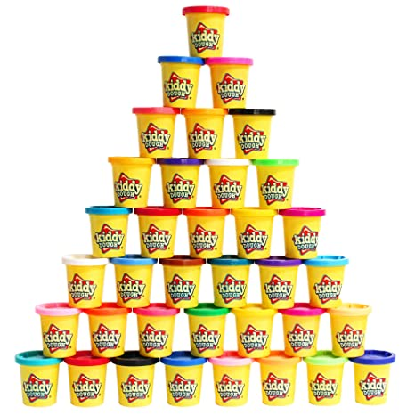 Amazon Com Kiddy Dough Compound 36 Pack Of Color Dough Mega