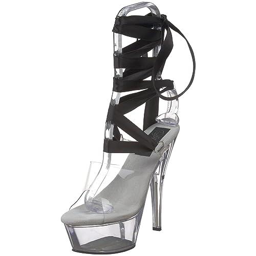 b0f1887f62a Pleaser Women s Kiss-295 Platform Sandal
