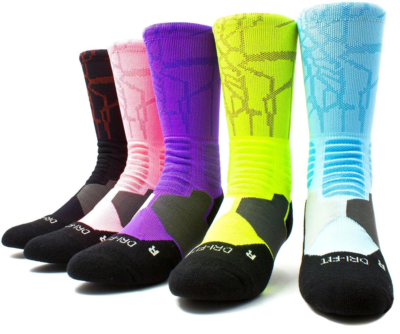 JiYe Athletic Crew Elite Socks|For Football,Basketball,Lacrosse/&Other Sports|For Men /& Women 2Pairs