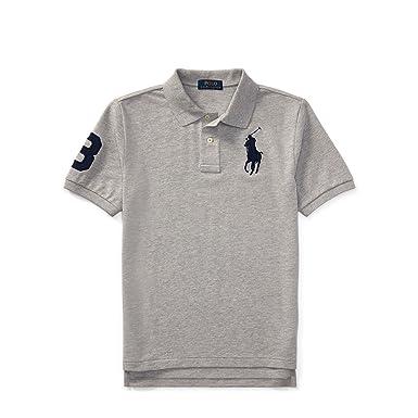 Polo Ralph Lauren Boy\u0027s Big Pony Mesh T-shirt, Grey (Large(14