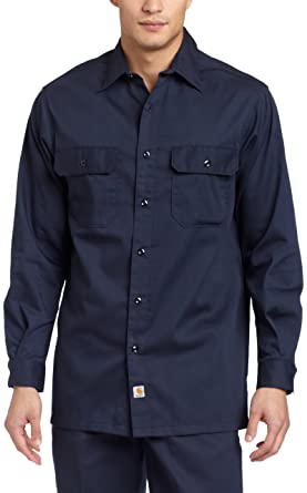 c5fdfd0a1365 Carhartt Men s Big   Tall Twill Long Sleeve Relaxed Fit Work Shirt Button  Front S224 at Amazon Men s Clothing store