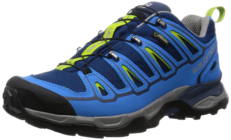 [サロモン] SALOMON トレッキングシューズ ハイキングシューズ 防水 登山靴 B013X89F60 25.5 cm Midnight Blue/Process Blue/GREEN GLOW