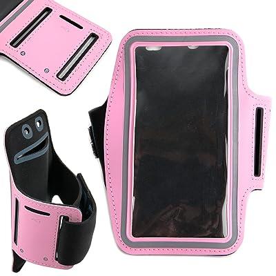 Duragadget Sport/brassard de jogging rose compatible avec Vernee Thor E et THL Knight 1 – en néoprène ajustable