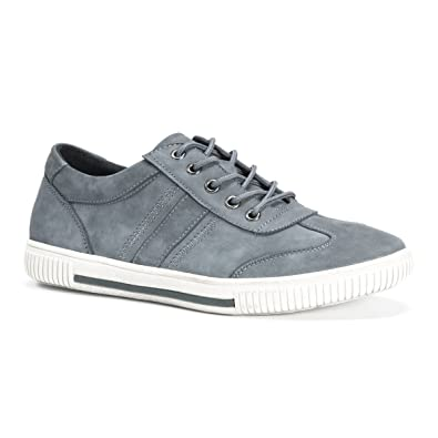 Muk Luks Men's Nick Shoes Fashion Sneaker, Grey, ...