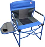 Outdoor Spectator Heavy Duty Compact Folding Camping Director Chair with Side