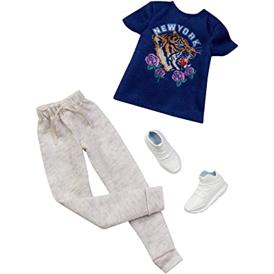 Barbie Clothes: 1 Outfit for Ken Doll Includes New York T-Shirt, Jogger Pants and Shoes, Gift for 3 to 8 Year Olds: Toys & Games