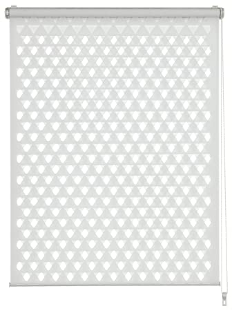 GARDINIA Doppelrollo zum Klemmen oder Kleben, Duo-Rollo/ Seitenzugrollo, Transparent und blickdicht, Alle Montage-Teile inklu