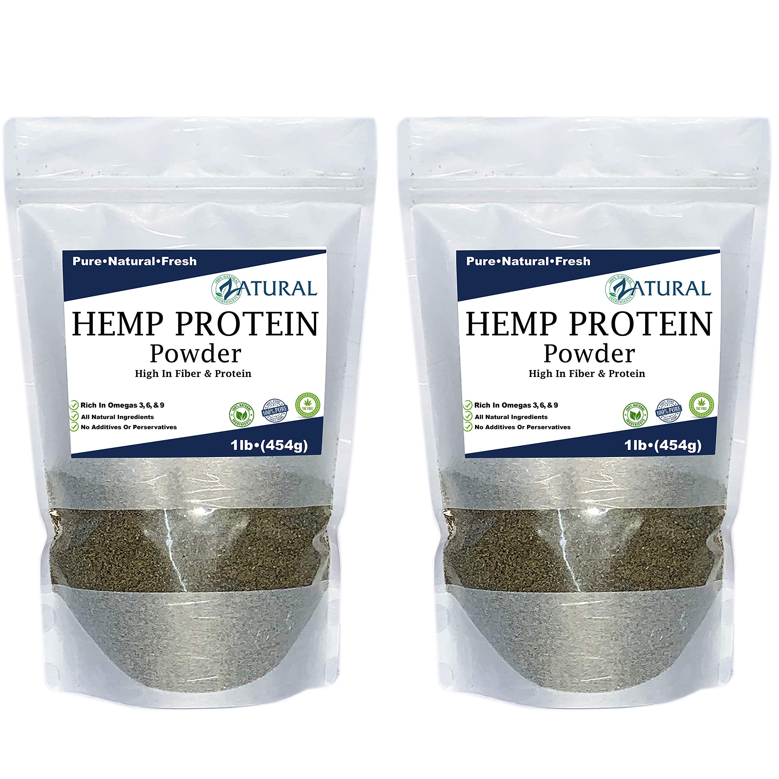 100% Pure Hemp Protein - Canadian farmed - All Natural - High Protein - High Fiber (2 Pounds)