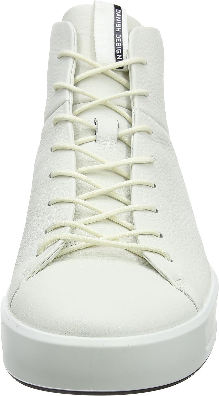 ECCO Soft 8 Men's, Baskets Hautes Homme Blanc White