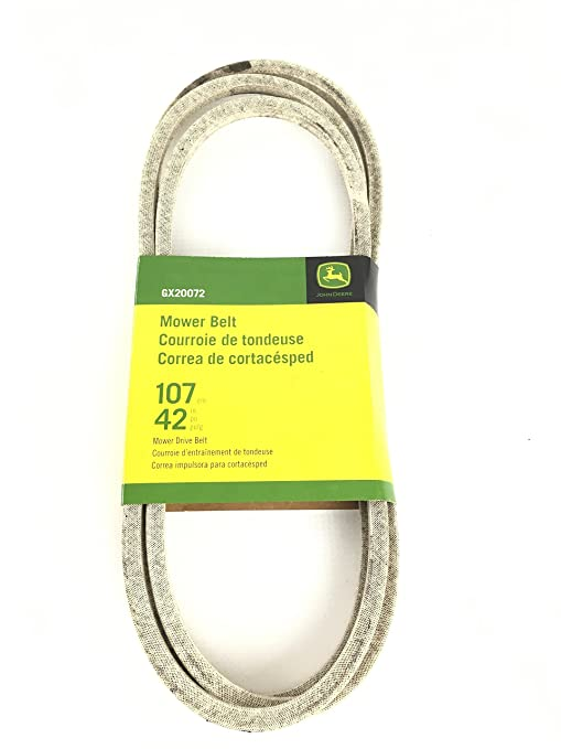 "GX20072 John Deere Deck Belt for 42"" Cut Fits 100, D, L &"