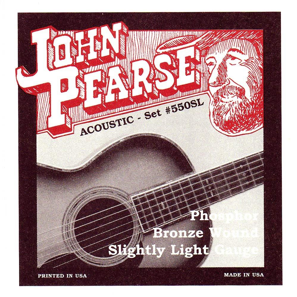 John Pearse Acoustic Guitar Strings Phosphor Bronze Slightly Light KMC Music Inc 550sl
