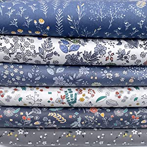 "6Pcs 20"" x 16"" Cotton Fabric DIY Making Supplies Quilting Patchwork Fabric Fat Quarter Bundles DIY for Quilting Patchwork Cushions Cotton Fabric for Patchwork (20"" x 16"", Coffee)"