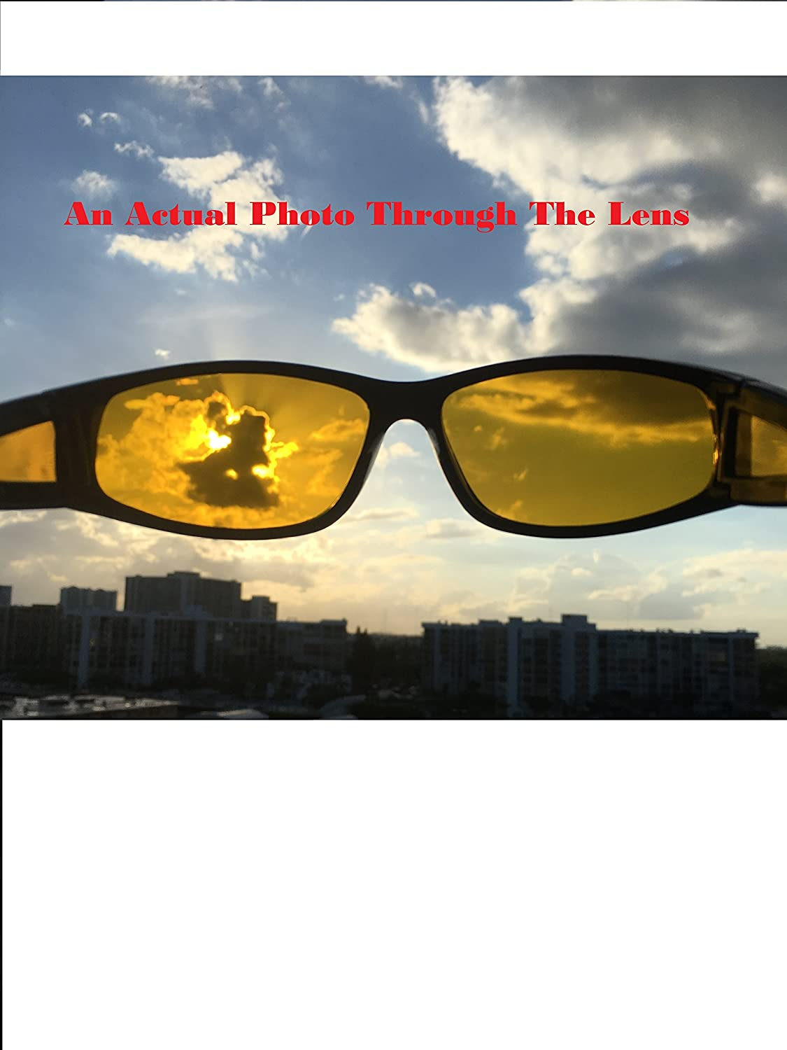 7ab932e94df Amazon.com  GlobalSource Night Driving Yellow Lens Polarized Sport  Sunglasses for Men or Women 100% UVA UVB (Black)  Sports   Outdoors