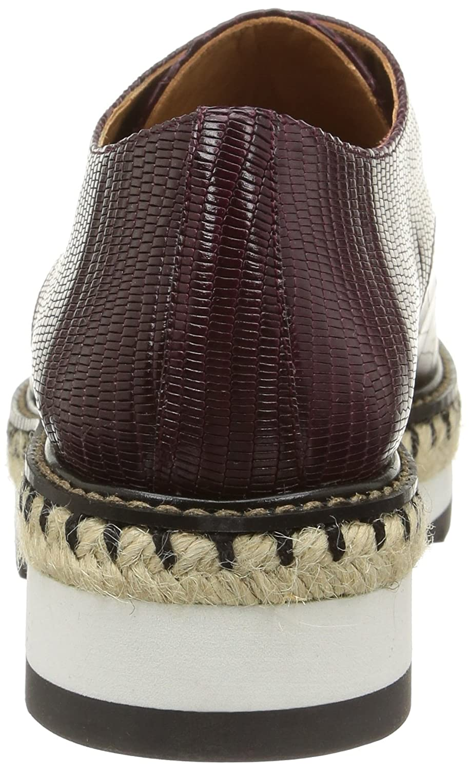 Camelia-Exotic Leather - Zapatos para Mujer, Color Aubergine, Talla 37 Castaner