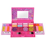 Liberty Imports Princess Girls All-in-One Deluxe Cosmetics Play Set   Palette Vanity with Mirror   Washable & Non Toxic Makeup Kit   Ideal Gift for Kids (Compact)
