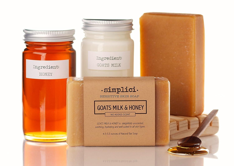 SIMPLICI Goats Milk Honey bar soap Value Bag 6 Bars