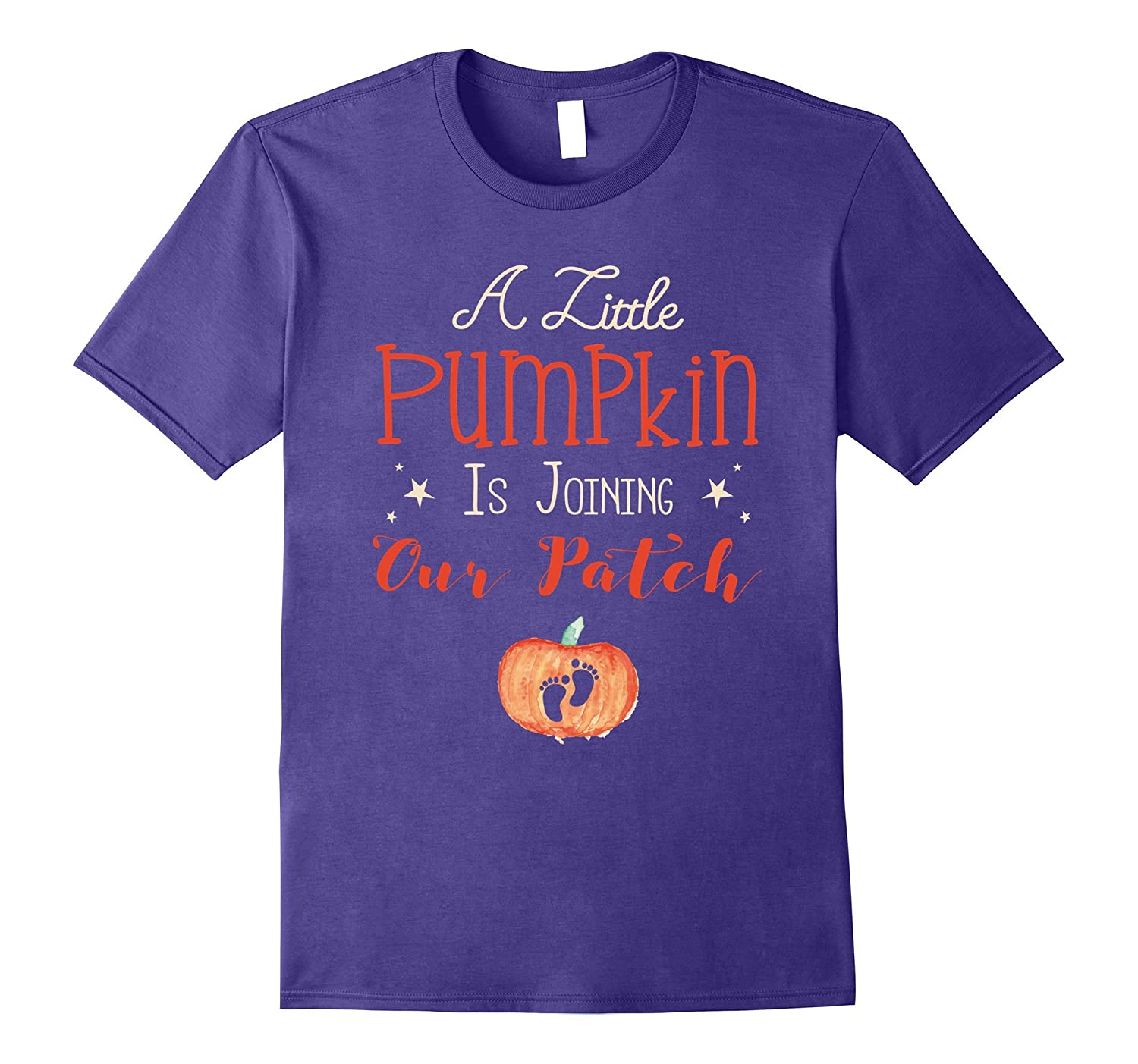 A Little Pumpkin Is Joining - Pregnancy Announcement Shirt-FL