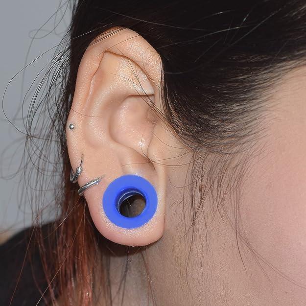 Longbeauty 11 pares de tapones de silicona tunnels-ear expansor estiramiento Calibres 8 G-1