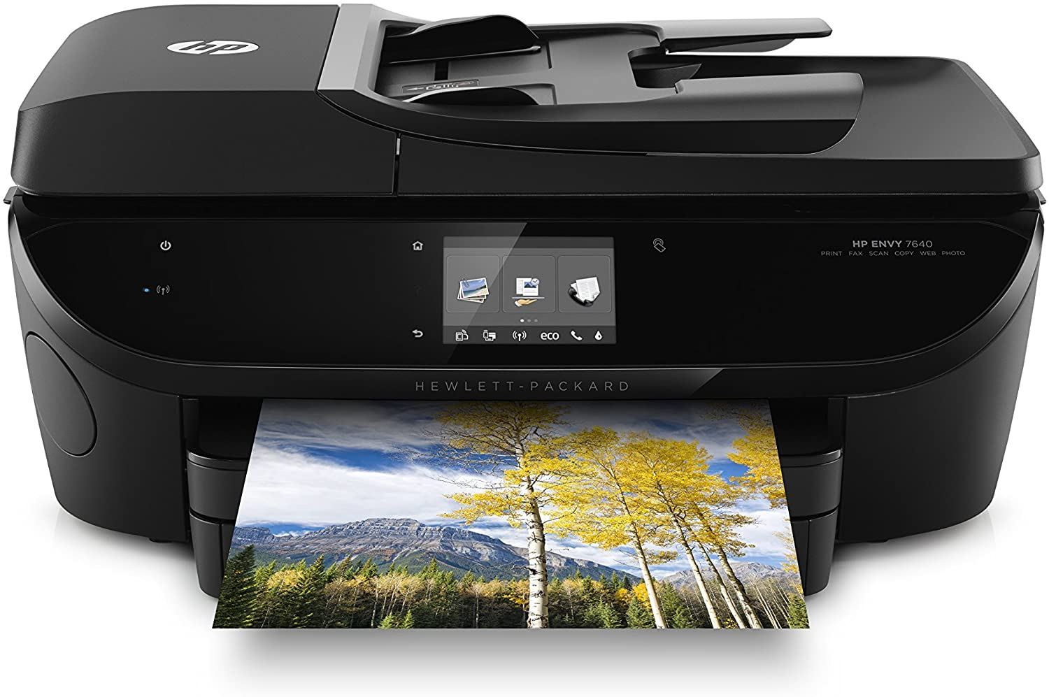 HP ENVY 7640 Wireless All-in-One Photo Printer with Mobile Printing, HP Instant Ink & Amazon Dash Replenishment ready (E4W43A) (Renewed)