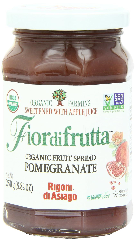 Rigoni Di Asiago Fiordifrutta Organic Fruit Spread, Pomegranate, 8.82 Ounce