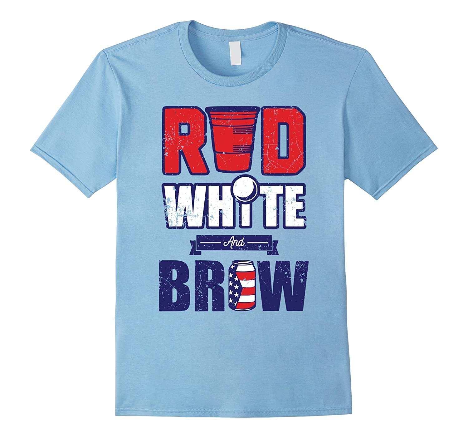 Red White and Brew -Funny 4th of July T-Shirt-4LVS ... - photo#20