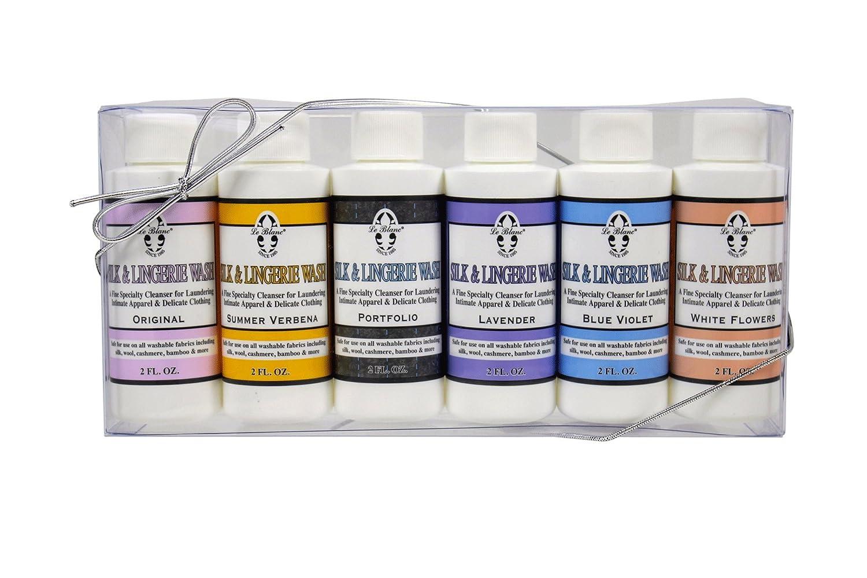 Le Blanc® Silk & Lingerie Wash Gift Set - Six 2 FL. OZ. Sample Bottles of All Silk & Lingerie Wash Fragrances, 2 Pack