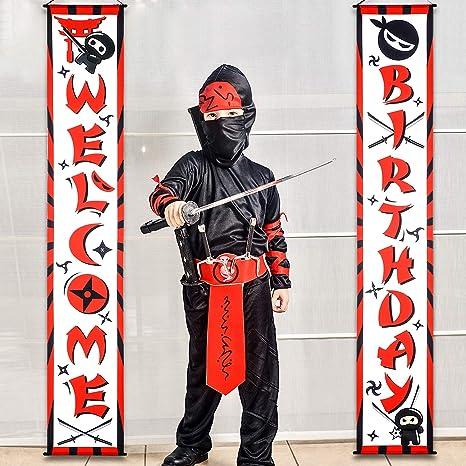 Amazon.com: Ninja - Cartel de cumpleaños con texto en inglés ...
